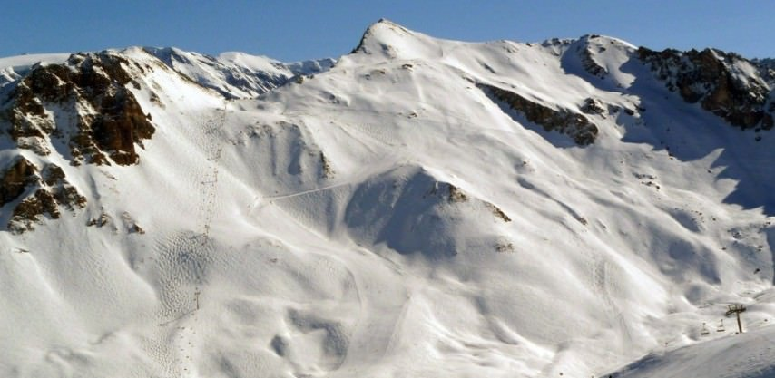 Pistes at Courchevel of the Three Valleys