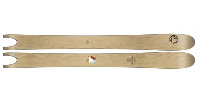 <h3>Powder skis</h3>Powder skis can be even wider than big mountain skis and in some cases stretch to 140mm underfoot. The reason for this is so that they can cope with the deepest snow. Most powder skis also feature the 'rockered' tip, providing even more stability away from the piste. The biggest difference compared to general skis is the fact that the ski itself offers a reverse camber – with the tip and rail of the ski thinner than the mid-section.