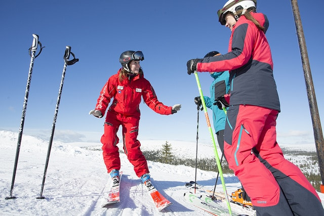 Ski lessons are for all abilities when visiting the slopes