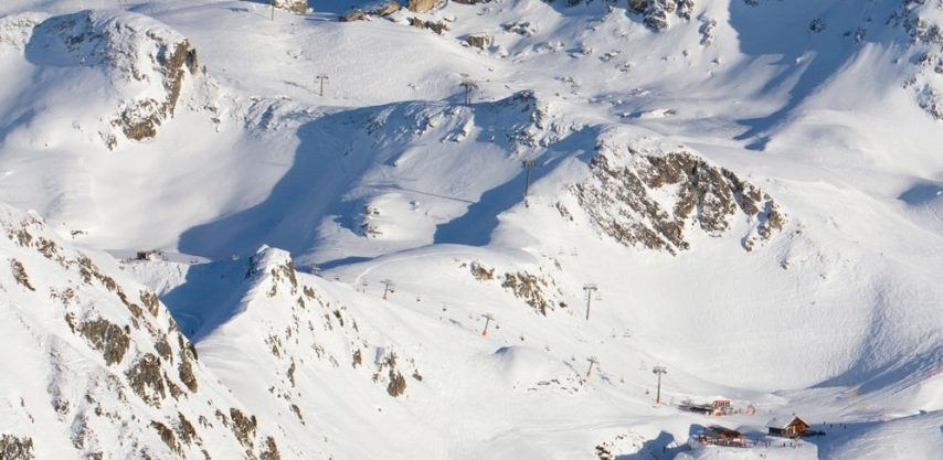 La Plagne Birds Eye View
