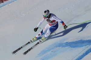 Woman competing in Alpine Skiing World Cup