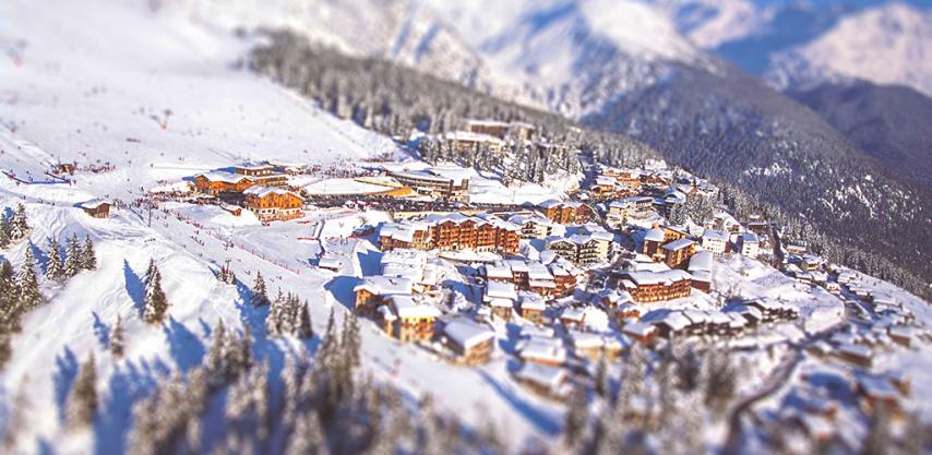 Ski Resort La Rosiere and the village of Les Eucherts