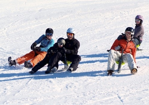 Yooner A genuine mode of transport for kids in Nordic countries, the Yooner is a pure laugh on the slopes of La Plagne. Tricky to control and with a hilarious driving position it's a recipe for plenty of silly antics for groups of all ages.
