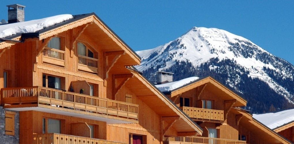 The beautiful mountainous backdrop at the Montalbert apartments