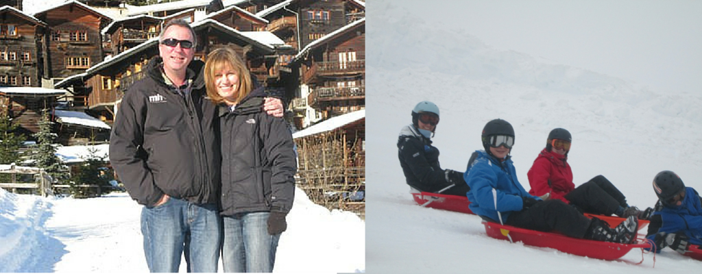 Nick and Vicki family ski holiday