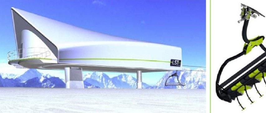 Envers ski lift La Plagne