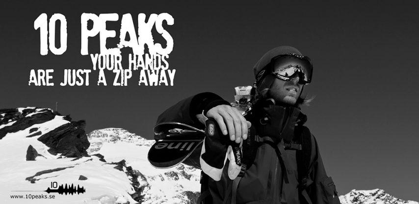 10 peaks C Zip gloves ski