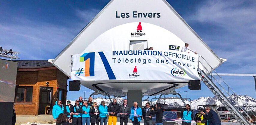 Les Envers Ski Lift Plagne Montalbert