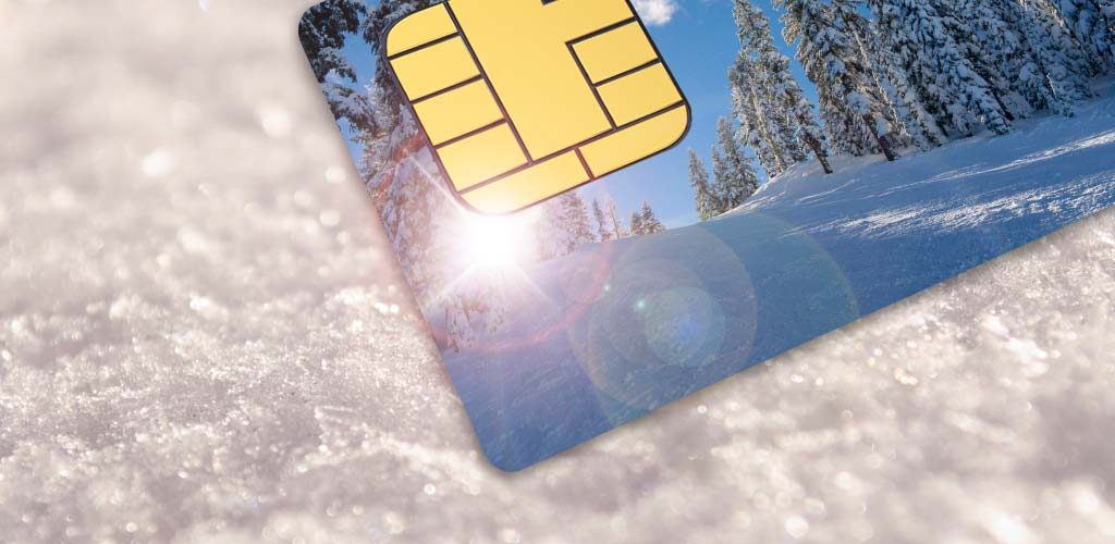 Currency cards for skiing