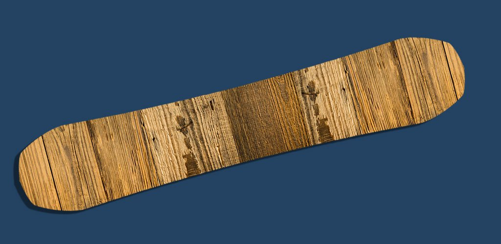 wooden ski and snowboard gear