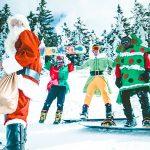 Christmas in ski resort