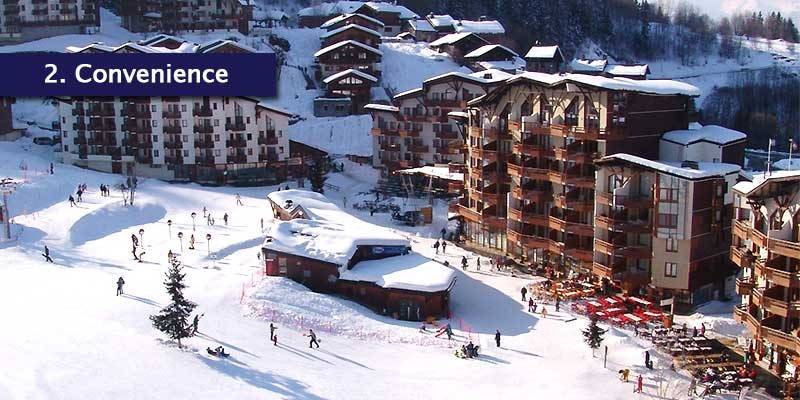 <h3>Everything in One Place</h3>La Tania is a relatively small place so you can pretty much walk around the village in 5 minutes and explore the local amenities it has to offer. There is a tourist office, four ski hire shops so you're all set for the mountains and a new crèche facility.<br></br>A gondola sits at one end of the village which leads up into the slopes and you can ski back close to where you're staying. A free bus also runs between the Three Valley's resorts so those who aren't keen on skiing can explore other areas and activites.