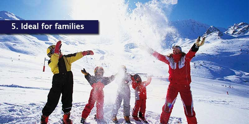 <h3>Ideal Family Ski Trip</h3>Being a traffic free resort, this alone makes it safer for children and easier for families to enjoy some peace and quiet. Le Ski runs it's own nursery in the resort and a kindergarten is also available that takes children from four months to five years old.<br></br>The beginners area, most suited for children on their first ski trip is very close to the village, so you can all practice skiing and boarding and consider exploring more resorts within the Three Valleys.