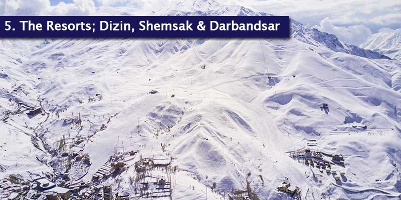 """<h3>Iran's Resorts</h3><p style=""""position: absolute; display: block; top: 20px;right: 20px; font-size: 18px; font-weight: bold;"""">1/2</p>Dizin's highest lift sits at an astonishing 3,600m and people often say that Dizin is what the European Alps resorts used to look like, with older infrastructure but that doesn't stop it from being an experience that will blow you away.<br></br>Shemshak is the third biggest in Iran, behind Dizin and Darbandsar. The resort is known for hosting some of the most steepest and technical slopes, so it varies in difficulty. There's also a ski lift that's dedicated to the beginner area, so the resort suits every type of skier."""