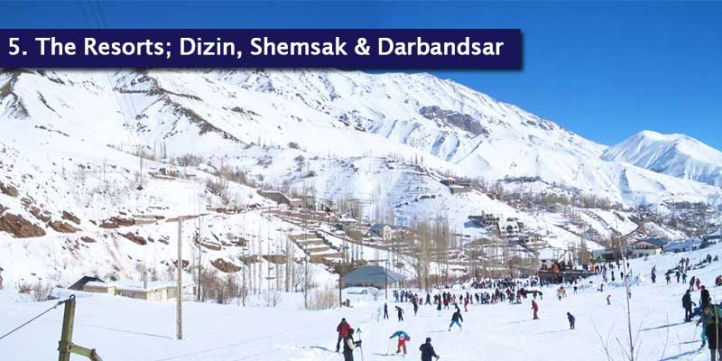 """<h3>Iran's Resorts</h3><p style=""""position: absolute; display: block; top: 20px;right: 20px; font-size: 18px; font-weight: bold;"""">2/2</p>Darbandsar is only around 10 minutes from Shemshak and 30 minutes from Dizin. Although Shemshak and Darbandsar are very close to each other, the ski areas are not linked. At the top of the resort, the scenery is truly spectacular with a great view around the Alborz Mountain Range.<br></br>It offers some slopes for off piste skiing and snowboarding and for the extreme skiers, it's literally heaven. All 3 of the Iranian resorts have something special to offer and it's an experience you won't forget."""