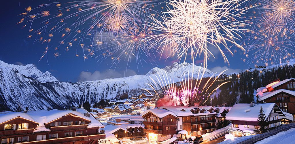 New year 2017 in ski resorts