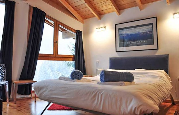 One of Chamois d'Or's en-suite bedrooms