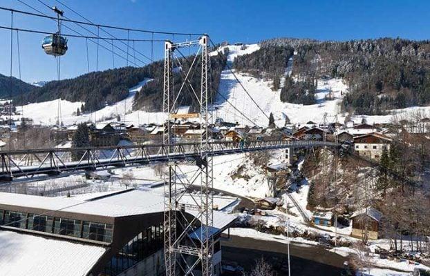 Morzine's suspension bridge