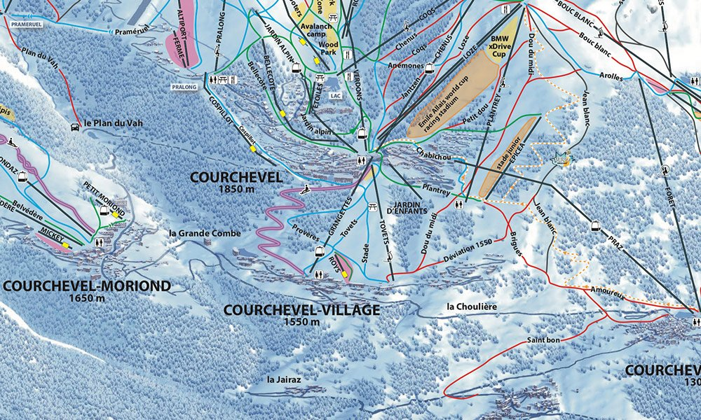 piste map courchevel