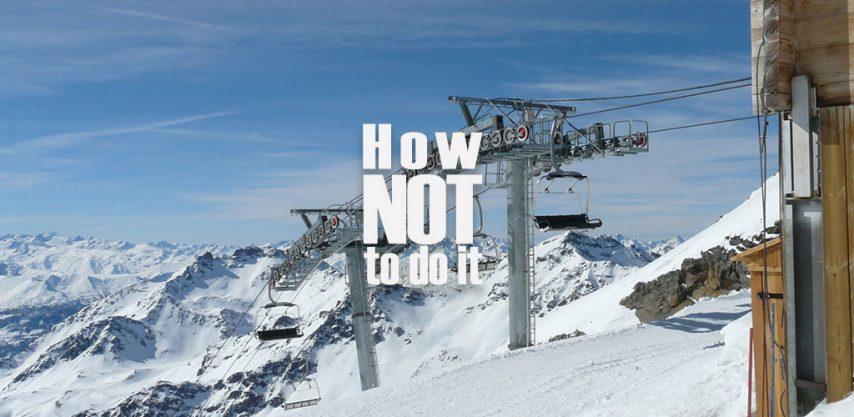 ski lift fail videos