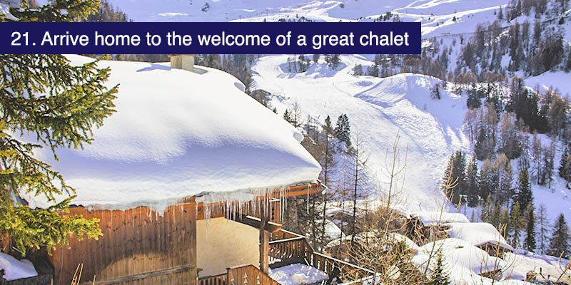 "<h3>Arrive home to the welcome of a Mountain Heaven catered chalet in La Plagne</h3>The Paradiski is a big area and exploring it is tiring work. When you're done out on the mountain and head for home there's nothing like the welcome of a great chalet. Our <a href=""/resorts/france/la-plagne-1800"" target=""_blank"">catered chalets in La Plagne 1800</a> are perfect as a base to explore and with dinner, ski hire, lift pass buying all taken care of and Bar la Mine as your local, enjoying your holiday and seeing all the sights will be all you have to worry about."
