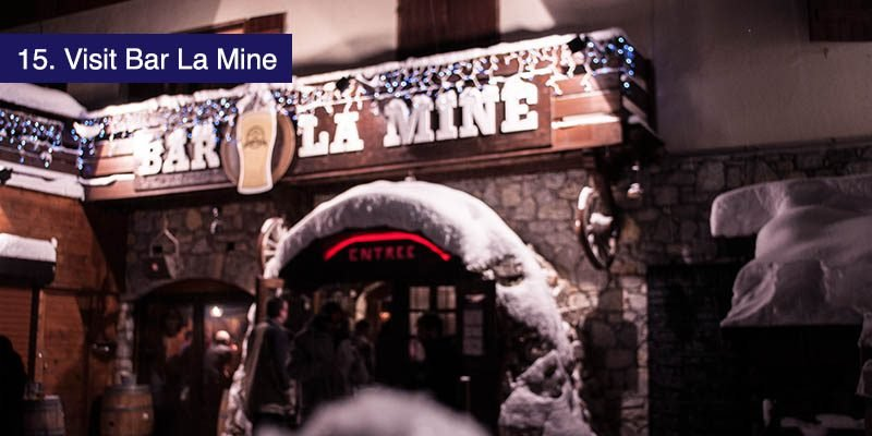 "<h3>Visit <a href=""http://www.bar-lamine.fr/en/"" target=""_blank"">Bar La Mine</a></h3>A little off the beaten track just down from the lifts in La Plagne 1800 is one of the loveliest pubs in Paradiski. It's built in a cosy cavern and tavern with a strong mining theme being on the site of the silver mines that first made La Plagne 1800 a town. Sorry about the annoying pop up when you get on their site."