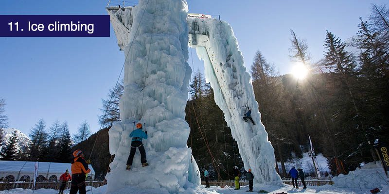 "<h3>Ice climbing</h3>To mix it up a bit you can practise your skills or try your hand at some ice climbing at the <a href=""https://winter.champagny.com/resort-guide/unmissable/ice-tower.html"" target=""_blank"">Chapagny Ice Climbing centre</a>. This 22 meter tall artificial tower provides ice climbing challenges for climbers of all ages and ability. The tower is open mid December to end of Feb depending on the temperature and it's best to book in advance."