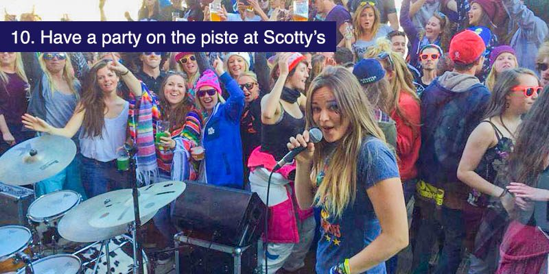"<h3>Have a party on the piste at Scotty's</h3>Every major resort has a bar that keeps the party going from the afternoon to the evening. In La Plagne <a href=""https://www.facebook.com/scottyslaplagne/"" target=""_blank"">Scottys</a> is the place to be. Based on the pistes at Plagne Centre you get live sports, live music, performances and capers like beer pong tournaments. It opens at 10am till late and is a must for those who love a party atmosphere."