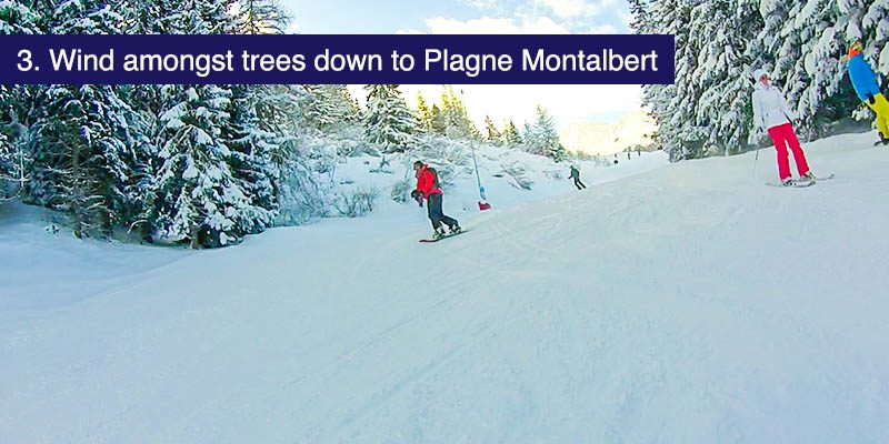 "<h3>Wind amongst the trees down to Plagne Montalbert</h3>A varied tangle of red and blue runs make their way through the tress from Plagne Aime 2000 down to <a href=""https://www.mountainheaven.co.uk/resorts/france/la-plagne-montalbert"" target=""_blank"">La Plagne Montalbert</a>. There are forest trail characters carved in wood amongst the trees and on snowy days making your way through the woods can be quite magical. There's a nice bar at the bottom, a favourite refuge on a bad weather day."