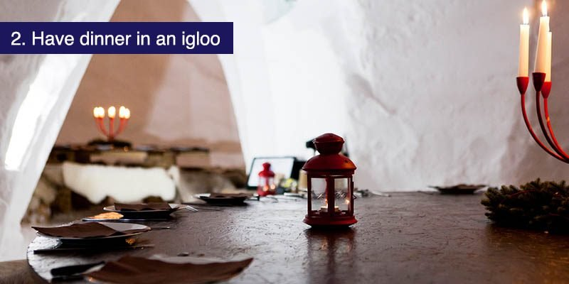"<h3>Have dinner in an Igloo</h3>When your chalet hosts have the night off and you think to book somewhere to eat, why not try something unusual and exciting? The <a href=""http://www.blacksheep-igloo.com/village-igloo-blacksheep-de-la-plagne-savoie/"" target=""_blank"">BlackSheep Igloo restaurant</a> in La Plagne village is taking reservations through most of the season.  Best to visit their site in Chrome and use the translate option, we didn't find an English version."