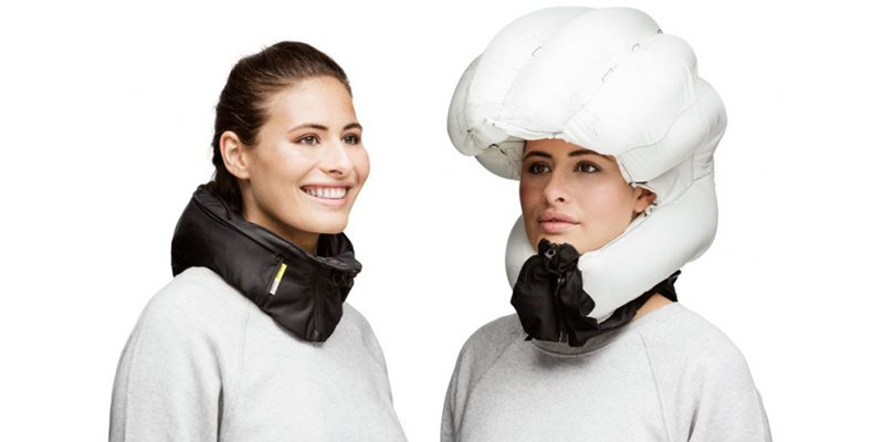 """<h3>Airbag helmets</h3>Airbag helmets are a thing, and the innovative concept came from <a href=""""https://hovding.com/how-hovding-works/"""">Hövding</a>, a Swedish company that focuses on safety and protection. The helmet is a collar which you wear around your neck and in the event of an accident, it will inflate, thereby providing you with the protection you need.<br></br>The helmet is currently for cyclists, but in the future it's entirely possible an airbag helmet for skiers and snowboarders will be introduced. How to stop it going off when your friends push you over? That may be the crucial problem.<br></br>We hope this kind of helmet is available for skiers soon!<br></br>"""