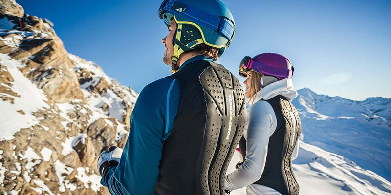 <h3>Back protection</h3>Protective ski gear has evolved in recent years, with new designs and styles weaving their way into the industry. And thanks to body moulding materials that effectively absorb impact, it's no surprise more and more skiers and snowboarders are wearing back protectors in the mountains.<br></br>Back protectors are padded protectors that help protect your backbone and vertebra if you were to suffer a hard fall. Ultimately, they save us quite a bit of pain!<br></br>Off piste riders, park jumpers and speedsters are common users of pack protection as they have an increased risk of hard impacts to the spine.<br></br>
