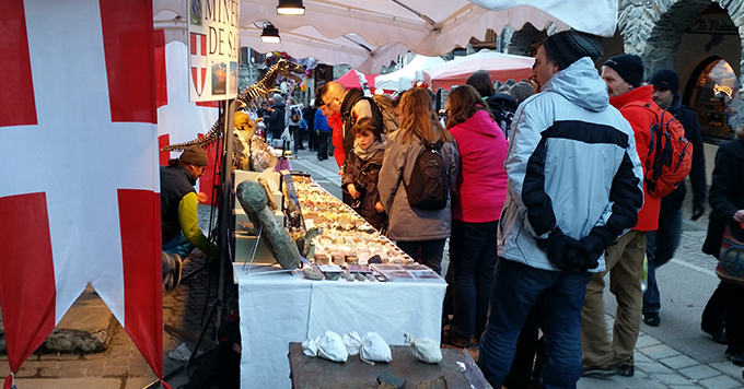 christmas market in la plagne