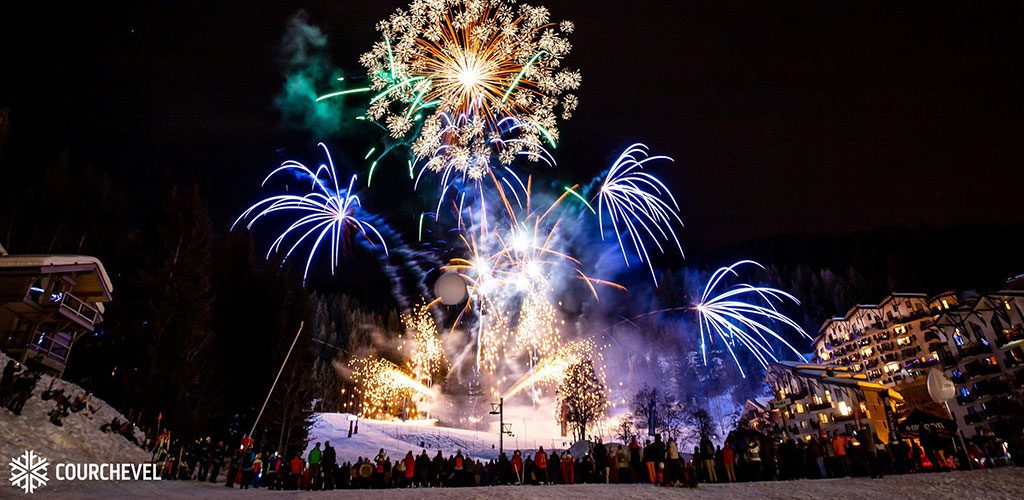 Festival of fireworks in Courchevel