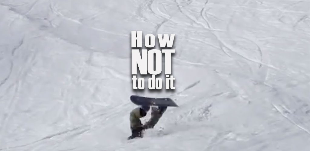 Going off piste - How not to do it