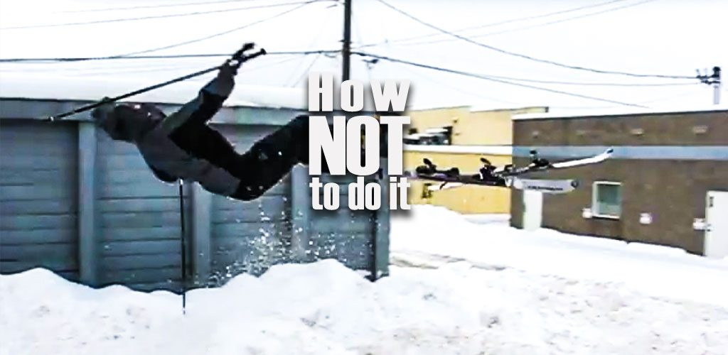 Snow park - How not to do it