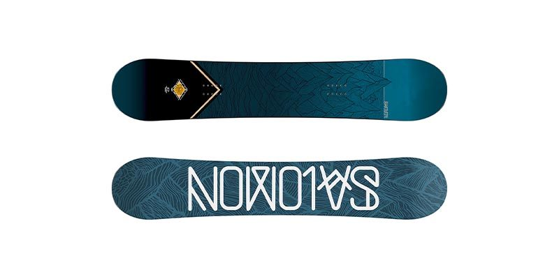"<h3>All-mountain snowboards</h3> <span style=""text-size:15px; font-weight:bold;"">Image from Salomon<br></span>  The snowboard jack of all trades, an all-mountain board does a bit of everything. The perfect all-mountain board has struck the balance between stiffness and traditional camber that suits speed carving and freeride style boarding and the flexibility and forgiving (Rocker style) camber that suits freestyle boarding. You can't have a board that's perfect at both, compromises must be made, as such all-mountain boards are a diverse family of subtly different designs that strike this compromise differently. You'll see this in the different hybrid camber systems on the various all-mountain boards.<br><br>   <b>Features</b>  <ul> <li>Normally bi-diectional, you can ride in switch</li>  <li>Hybrid camber – A range of hybrid camber profiles dominate all-mountain boards, different camber variations put emphasis on freestyle or free ride characteristics.</li>  <li>Average Flex – all-mountain boards are moderately stiff but the nature of the construction gives them different characteristics.</li>  </ul> All-mountain boards are the ultimate generalists, the vanilla of snowboarding. All-mountain is also available in 2 other exciting flavours, all-mountain freestyle and all-mountain aggressive, let's take a closer look at those."