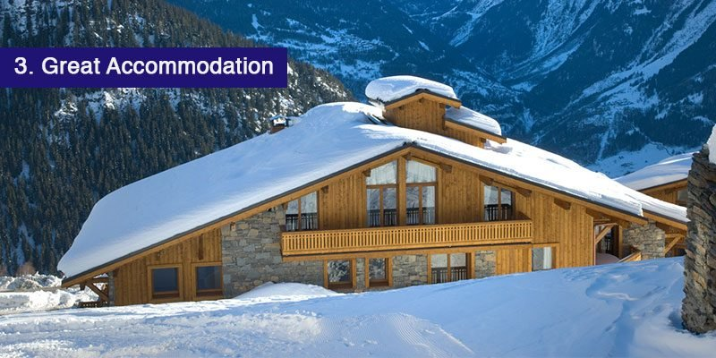 """<h3>The Accommodation</h3>La Rosiere is full of great self catered and catered chalets and apartments, all which are able to fulfil your needs whether you're planning a ski trip for 4 or 15.<br></br>A catered chalet at first glance may seem more than self catered, but the investment in a catered chalet means you don't have to worry about cooking or eating out every day and night and you can be pretty much stress free.<br></br>Our <a href=""""/resorts/france/la-rosiere/catered/chalet-epilobe"""">Chalet Epilobe</a> is only a 50 metre walk away from the Les Eucherts 6 seater express chairlift and is one of the closest catered chalets in La Rosiere to the slopes. Our other catered chalets include <a href=""""https://www.mountainheaven.co.uk/resorts/france/la-rosiere/catered/chalet-valeriane"""">Chalet Valeriane</a> and our fabulous <a href=""""/resorts/france/la-rosiere/catered/penthouse-chalet"""">Penthouse Chalet.</a>"""