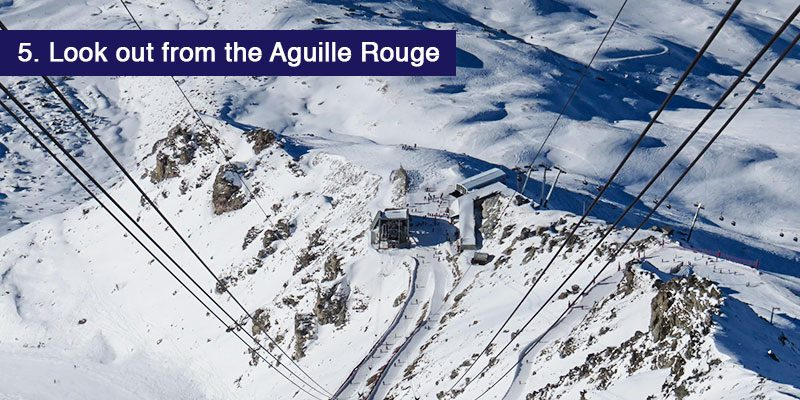 "<h3>Look out from the <a href=""https://en.lesarcs.com/explore-the-ski-area/the-aiguille-rouge.html"" target=""_blank"" rel=""noopener noreferrer"">Aguille Rouge at 3226m</a> </h3>The highest point on the pistes of the ski area a favourite for experts, adventurers and photographers. It offers supreme views on a clear day. From the top you can take a 7 km run down with challenging blacks and reds, one of the longest trails in the Alps. Most easily reached from the Varet Gondola from Arc 2000"