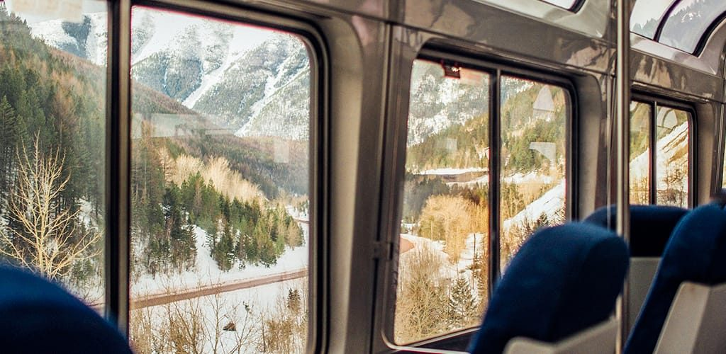 Ski holiday by train, antidote to flight shame