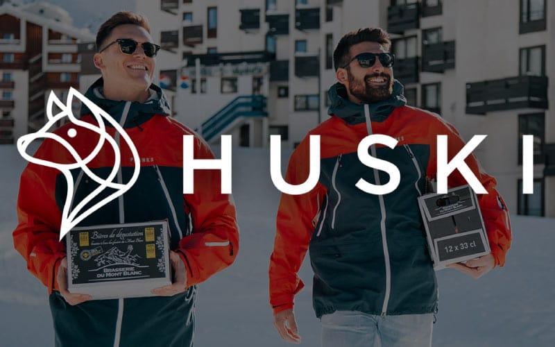 Huski alpine food delivery service
