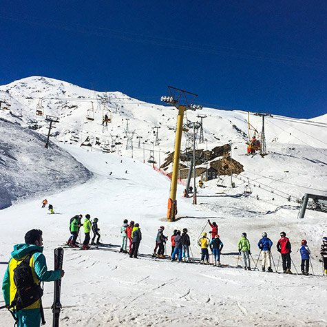 Darbansar ski resort Iran