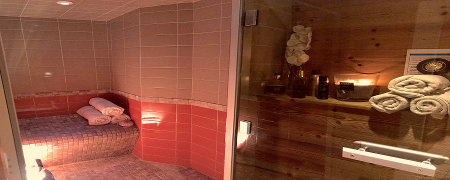 A chalet sauna, perfect to relax in after a day's skiing
