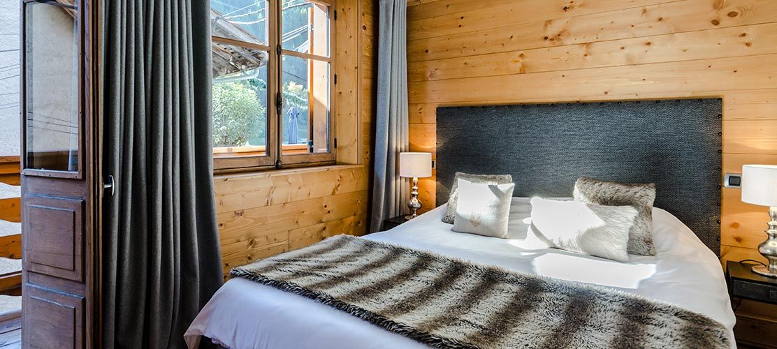 Quality furnishings make chalet bedrooms lovely