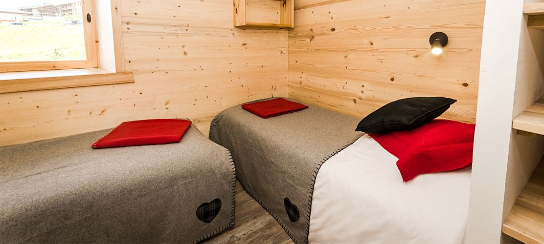 Twin bedroom in Chalet Epilobe