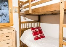 A bunk bed room in the chalet