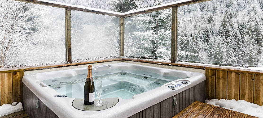 Luxurious outdoor hot tub with stunning views
