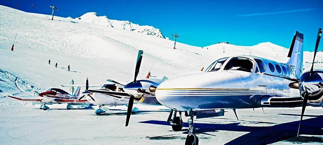 The famous Courchevel 1850 Altiport