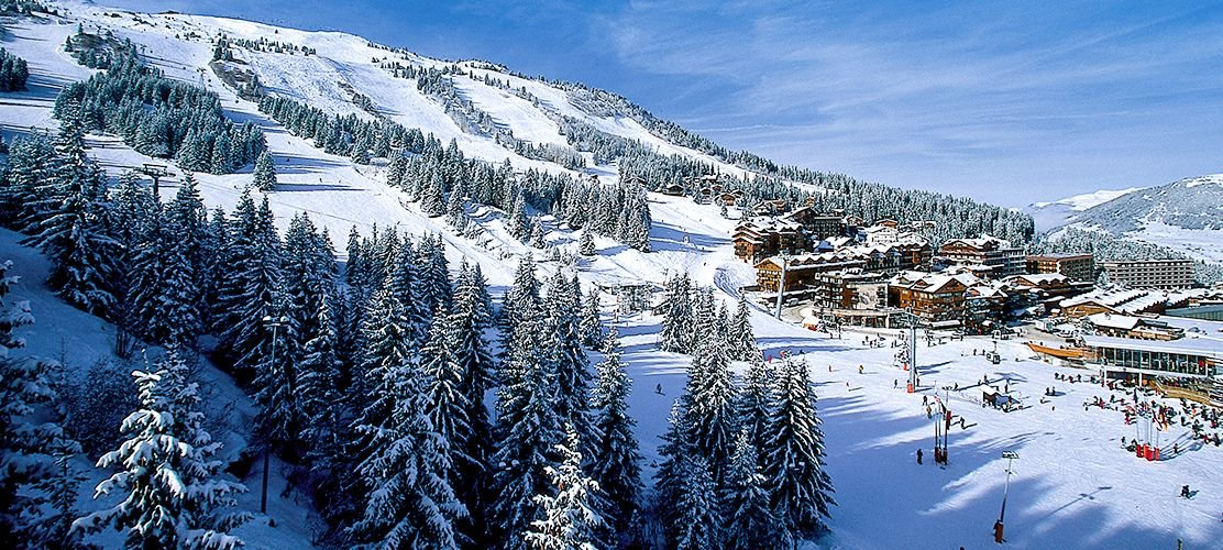 Courchevel slopes