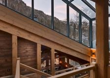 Glass atrium of Morzine chalet
